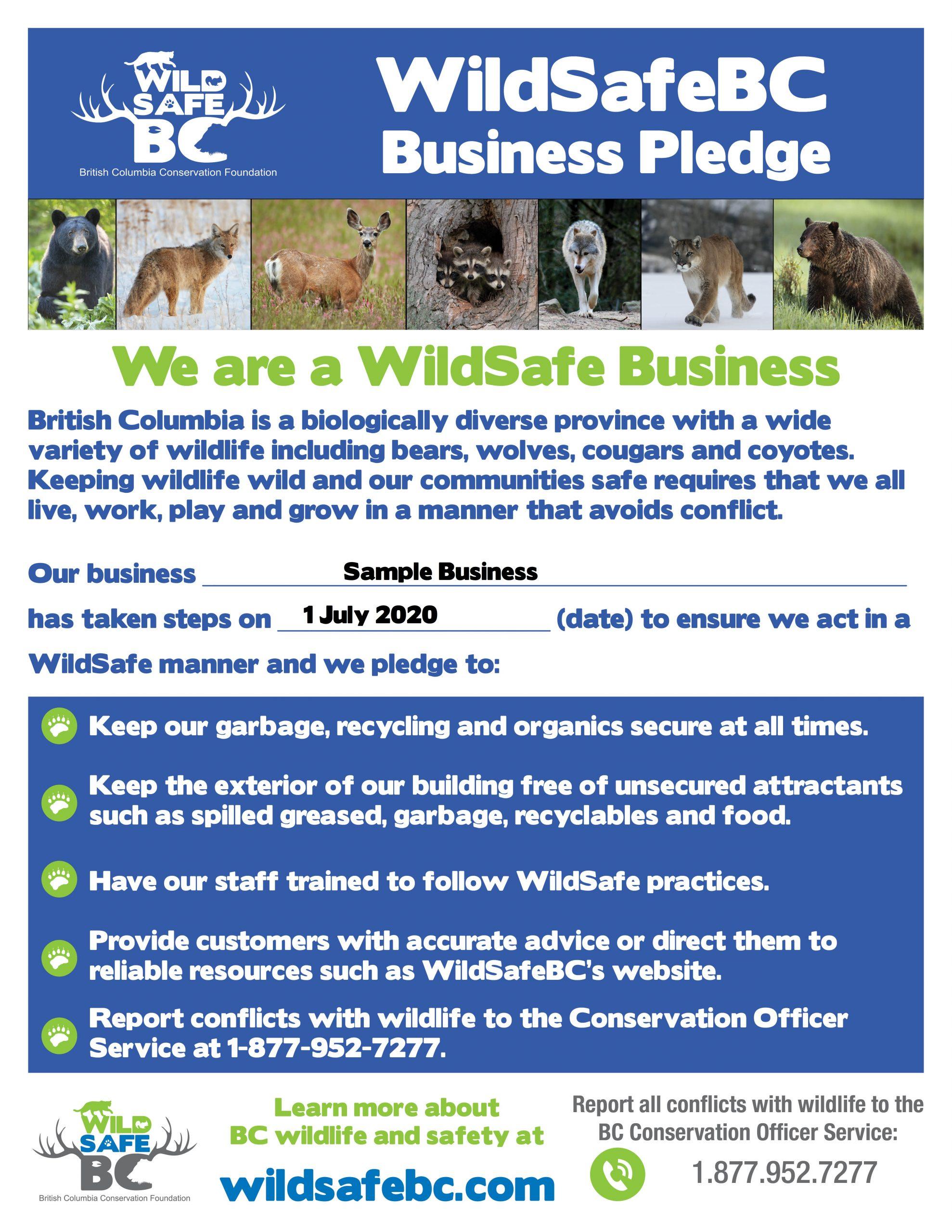 WSBC Business Pledge 8.5 x 11 SAMPLE