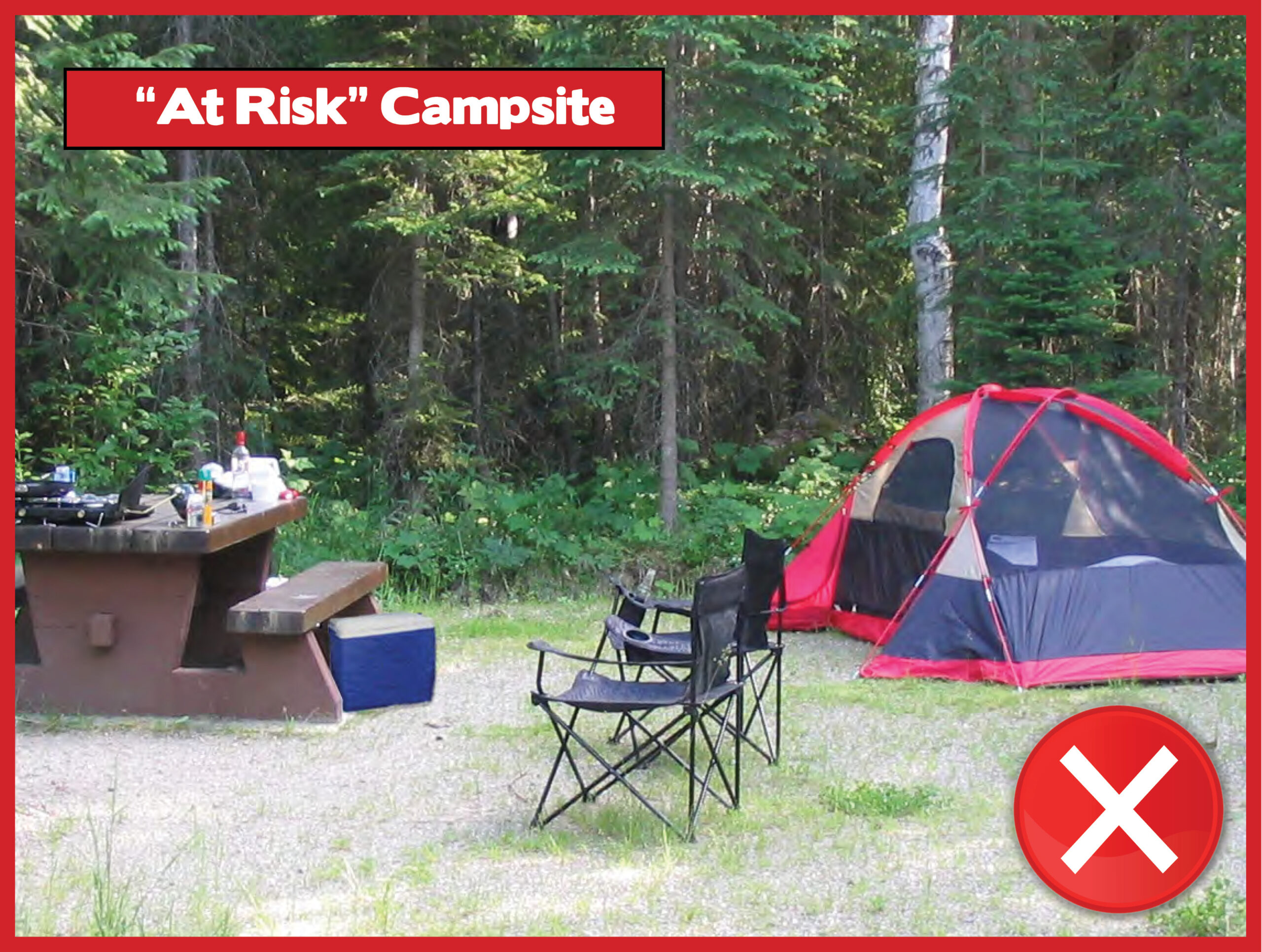 At Risk Campsite only with X